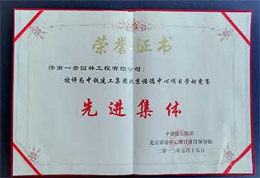 中铁建工集团北京诺德中心项目劳动竞赛先进集体